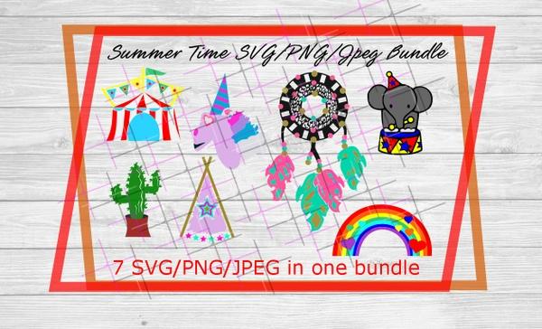 Summer Time Bundle- Unicorn, Dreamcatcher, Rainbow, Teepee, Cactus, Circus Elephant, Circus Tent