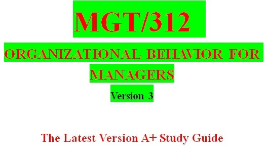 MGT 312 Week 5 Organizational Development and Human Resources