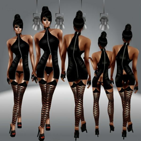 Ziper Dress AP-GA
