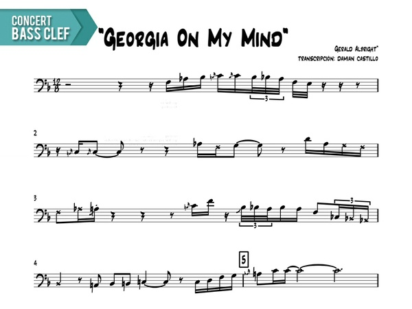 "Gerald Albright - ""Georgia On My Mind (Live At The Montreux Jazz Fest)"" Concert Bass Clef"