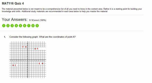 MAT 116 Week 4 Quiz (2015 Latest Version | Got 100% Scoe | A+ Study Guide)