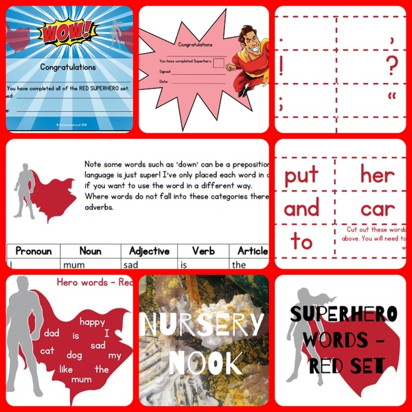 Superhero Words - Red Set