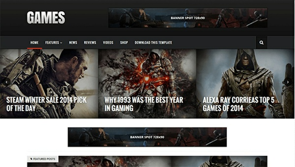Sora Games Blogger Template Premium Version