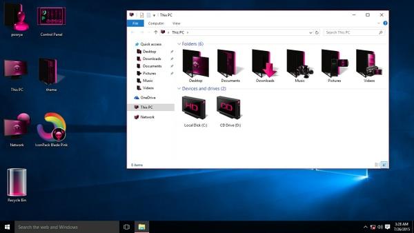 Blade Pink IconPack