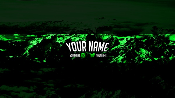 FREE Green Banner Template