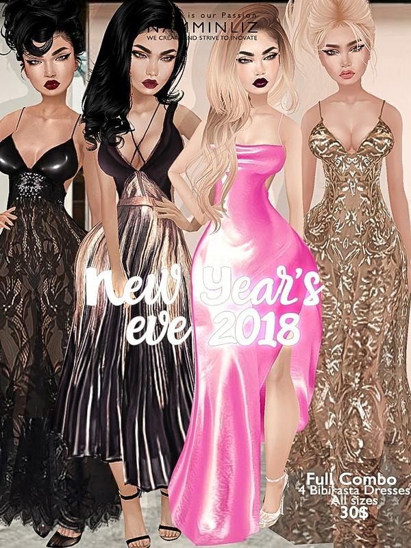 New Year's eve full combo Bibirasta dress all sizes imvu JPG texture NAMMINLIZ