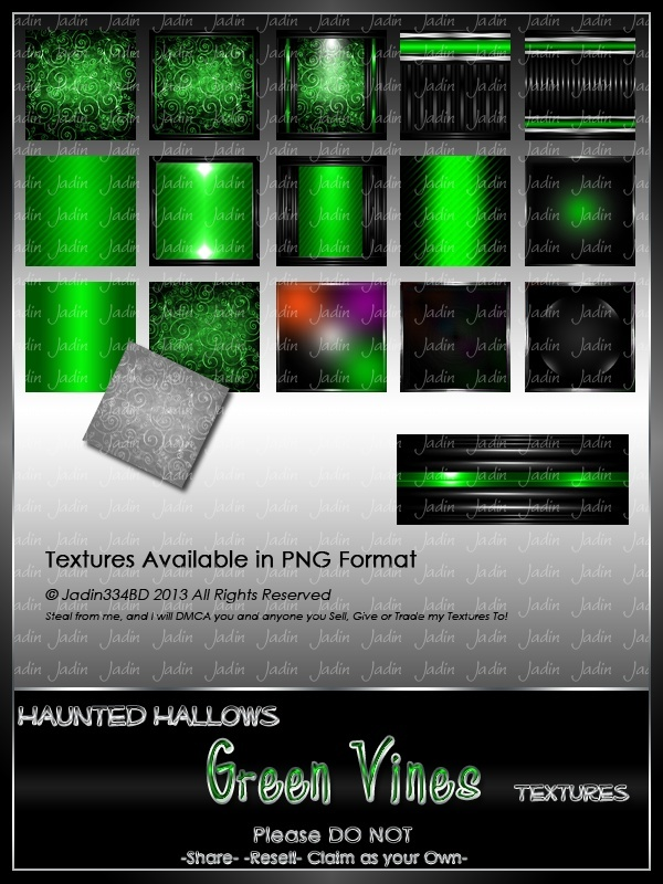 Haunted Hallows GREEN Vines Texture Pack-- $2.00