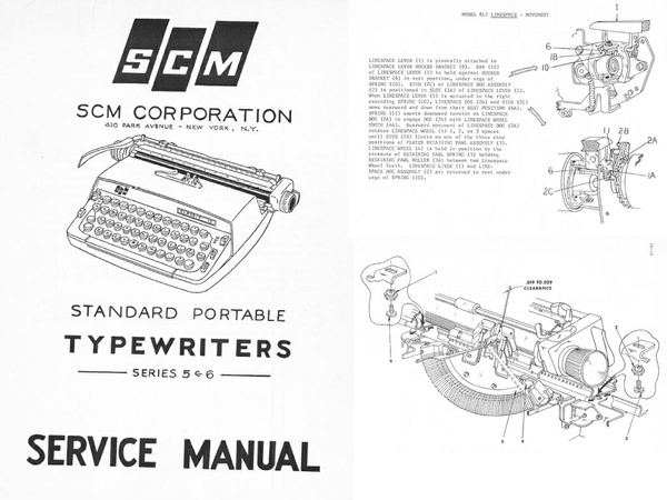 "Smith Corona 5 & 6 Series ""Galaxie"" Portable Typewriter Repair Adjustment Service Manual"
