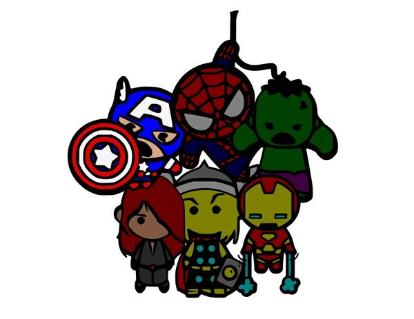 Avengers Superheros SVG- SVG ONLY