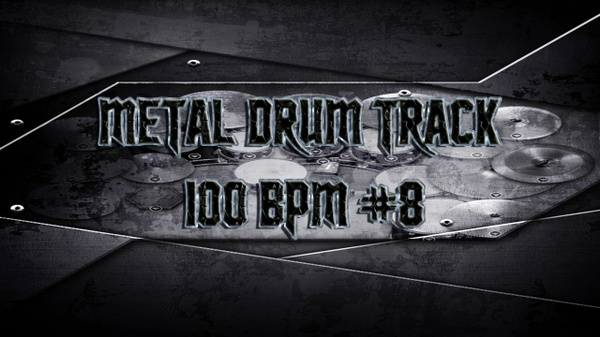 Metal Drum Track 100 BPM #8 - Preset 2.0