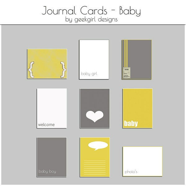 Baby Journal Card by geekgirl designs