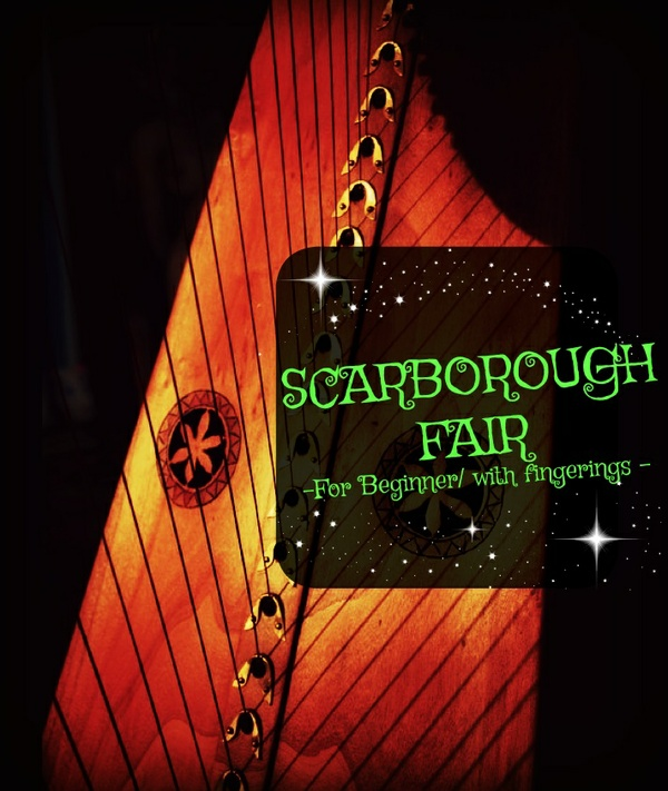 4-SCARBOROUGH FAIR FOR LEVER HARP -27S LV1- FOR BEGINNER