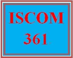 ISCOM 361 Week 4 Negotiation Plan Development