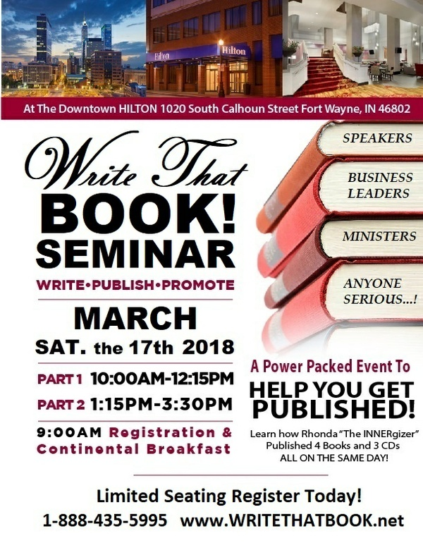 $99 Payment on WRITE THAT BOOK!  Seminar  (View ONLINE  or  ATTEND LIVE