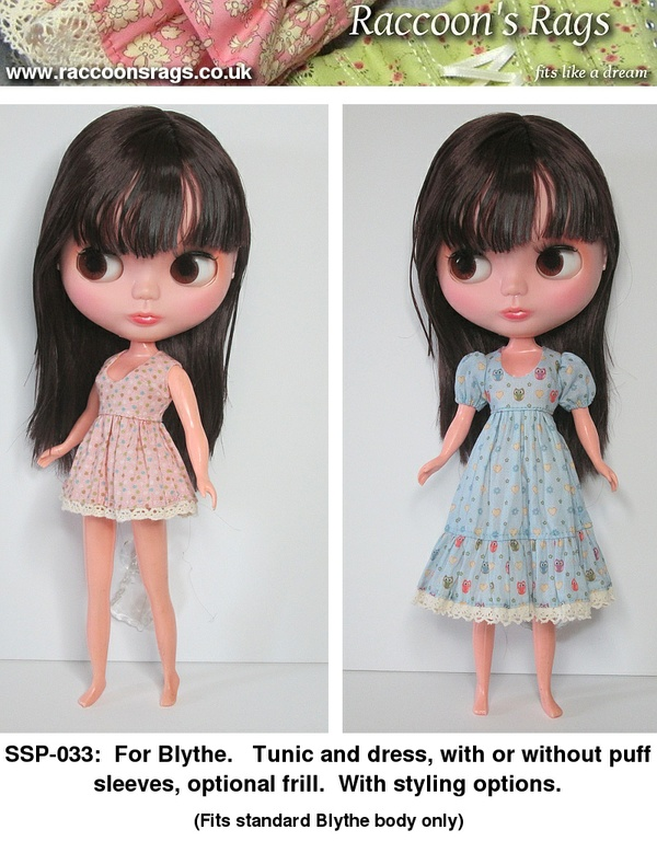 SSP-033: Tunic and dress for Blythe, with styling options.