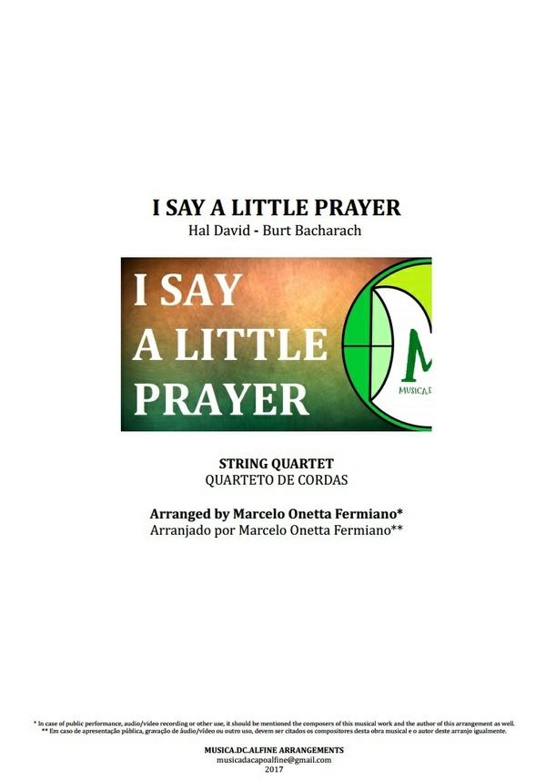 I Say a Little Prayer | Aretha Franklin | String Quartet | Score and Parts