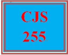 CJS 255 Week 5 Rehabilitation Paper