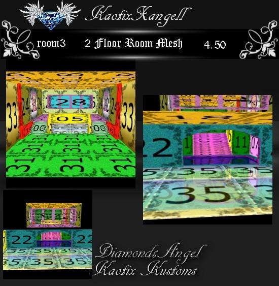 2 Floor Room Mesh -Room 3
