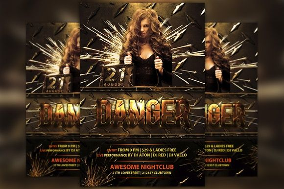 Danger Club Flyer Template