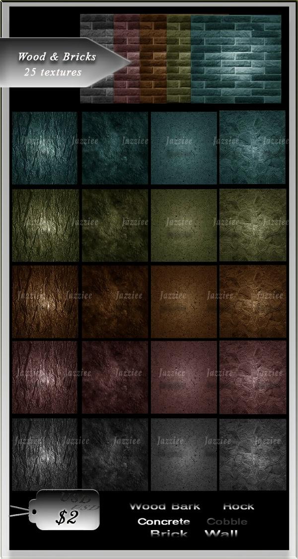 25 textures Wood&Bricks.