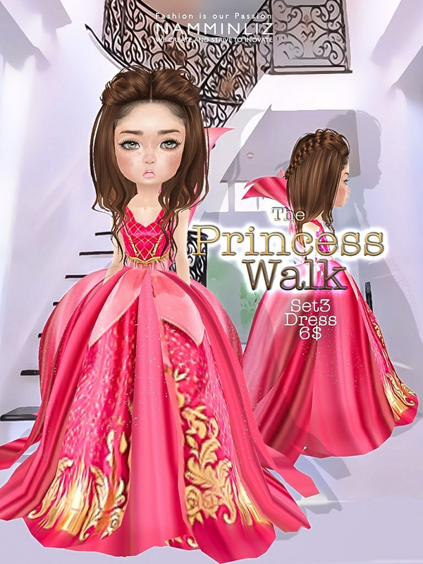 The Princess walk SET3 imvu Texture JPG delure