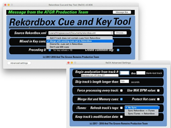 Rekordbox Cue and Key Tool