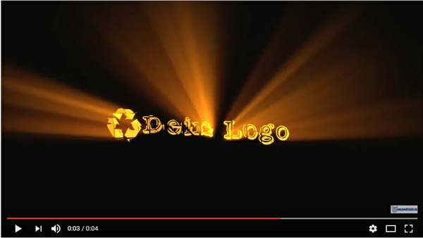 "Video Logo Intro ""BLACK LOGO WIND"" mit Deinem Logo"