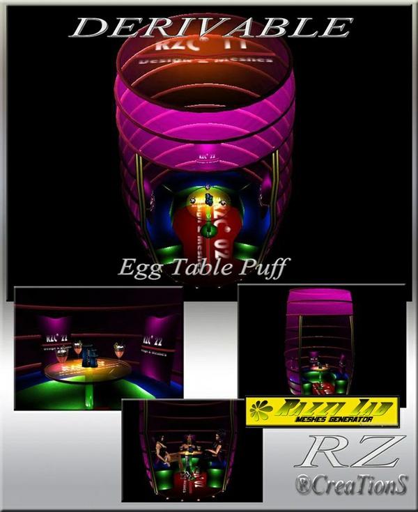 81. Egg Table Puff Mesh Furniture