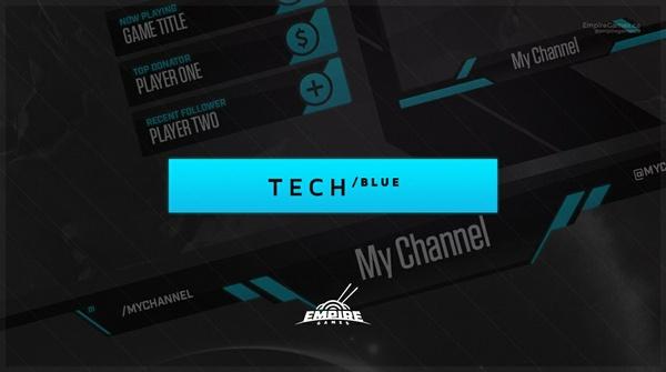Stream Overlay | Tech Blue - No Photoshop!