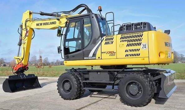 New Holland WE150 Compact WE170 Compact WE170C Railroad Wheeled Excavators Service Workshop Manual