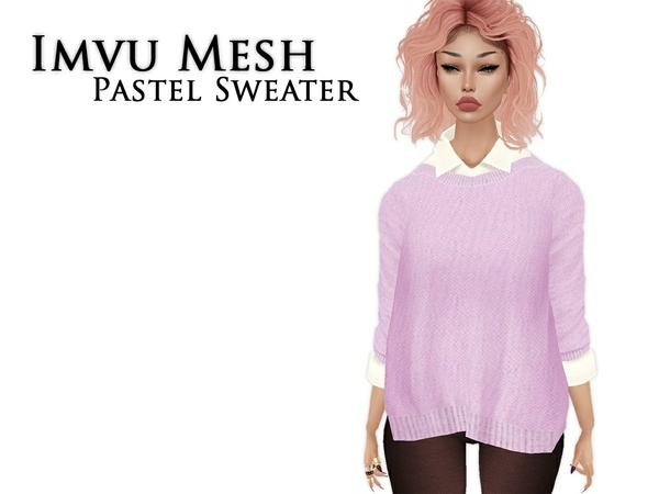 IMVU Mesh - Tops - Pastel Sweater