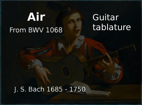 Air ( J. S. Bach 1685 - 1750 ) - Guitar tablature
