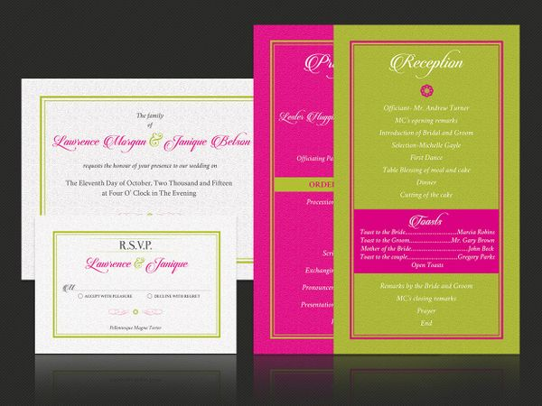 Tropical Wedding Invitation Template