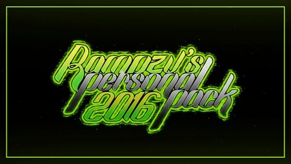 Rampzy's Personal Pack 2016 - חבילת אפקטים לפוטושופ