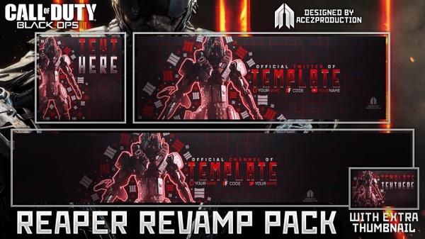 Black Ops III - Reaper Revamp Pack + Thumbnail Template