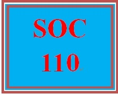 SOC 110 Week 1 participation Week 1 Electronic Reserve Readings