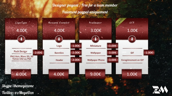 Designer Payant & Free for a team member