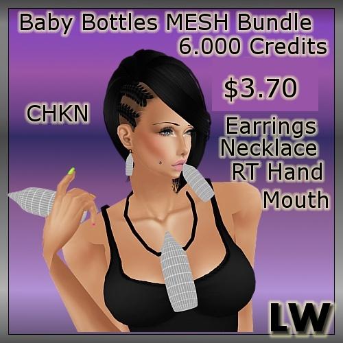 Baby Bottles Bundle MESH
