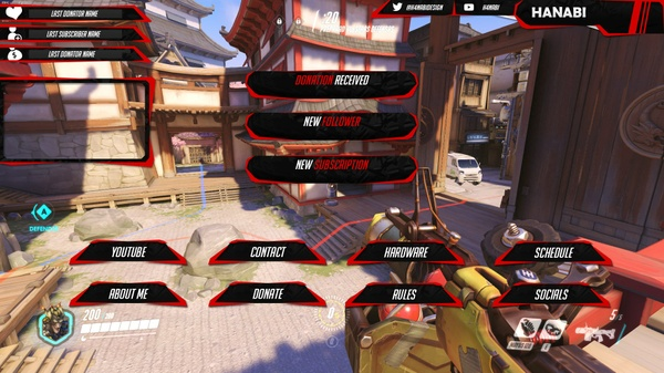 DX red Pack Twitch stream overlay