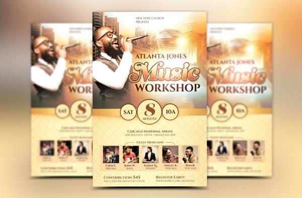 workshop flyer template