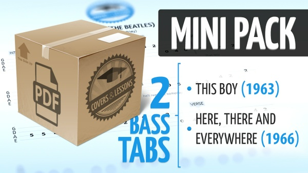 Mini Pack - 2 Premium Beatles Bass Tabs