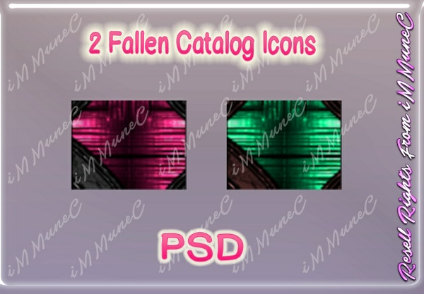 2 Fallen Catalog Icons PSD (Halloween)