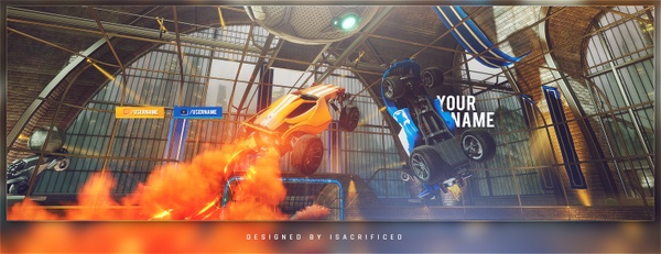Rocket League Twitter Header (Photoshop Tutorial)