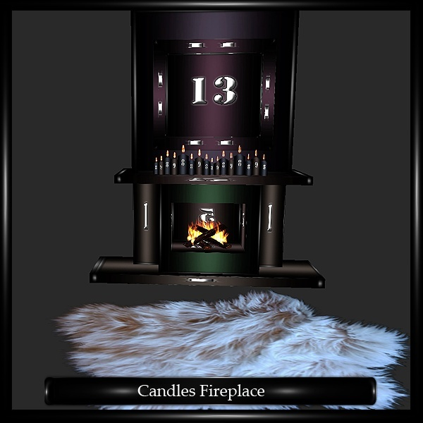 CANDLES FIREPLACE