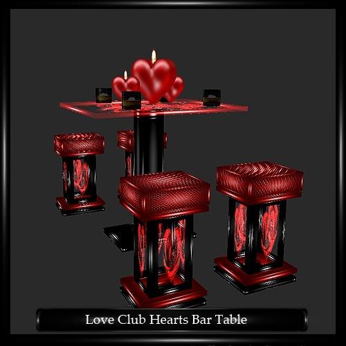 Love Club Hearts Bar Table