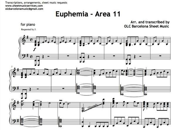 Euphemia (Area 11) Sheet music (.pdf)