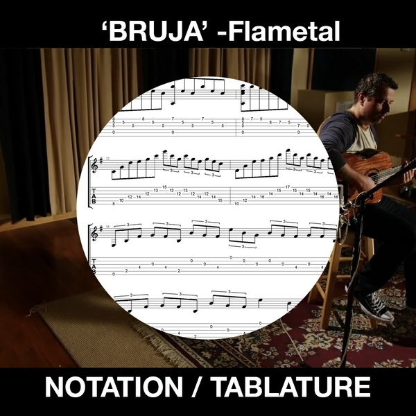 BRUJA - Flametal - for SOLO FLAMENCO GUITAR - Ben Woods