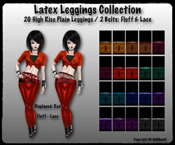 20 High Rise Plain Latex Leggings