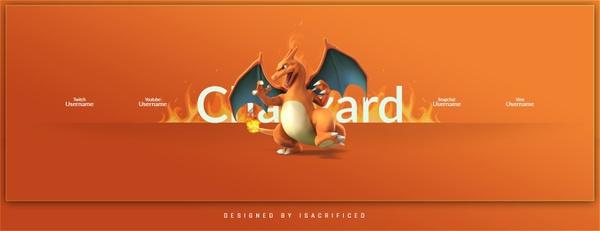 Charizard Pokemon Go : Twitter Header (PSD)