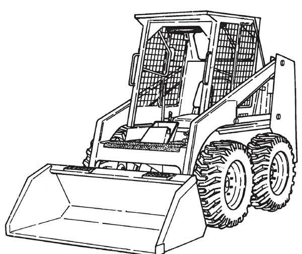 Bobcat 853 853H Loader Service Repair Manual Download 1995